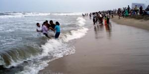La plage à Chennai
