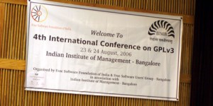 Bangalore, conférence GPL 3