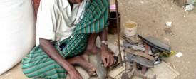 Cordonnier en Inde